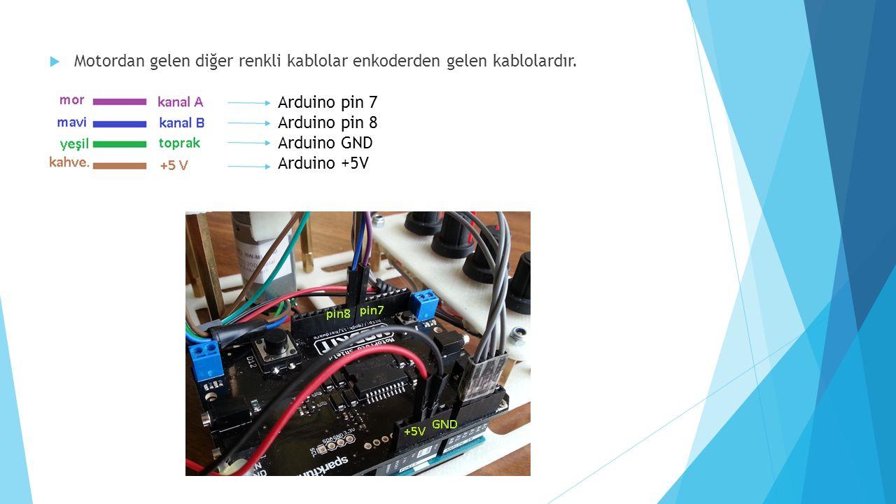+5v GND pot1pot2 pot3 Potansiyometrelerin bağlantısı