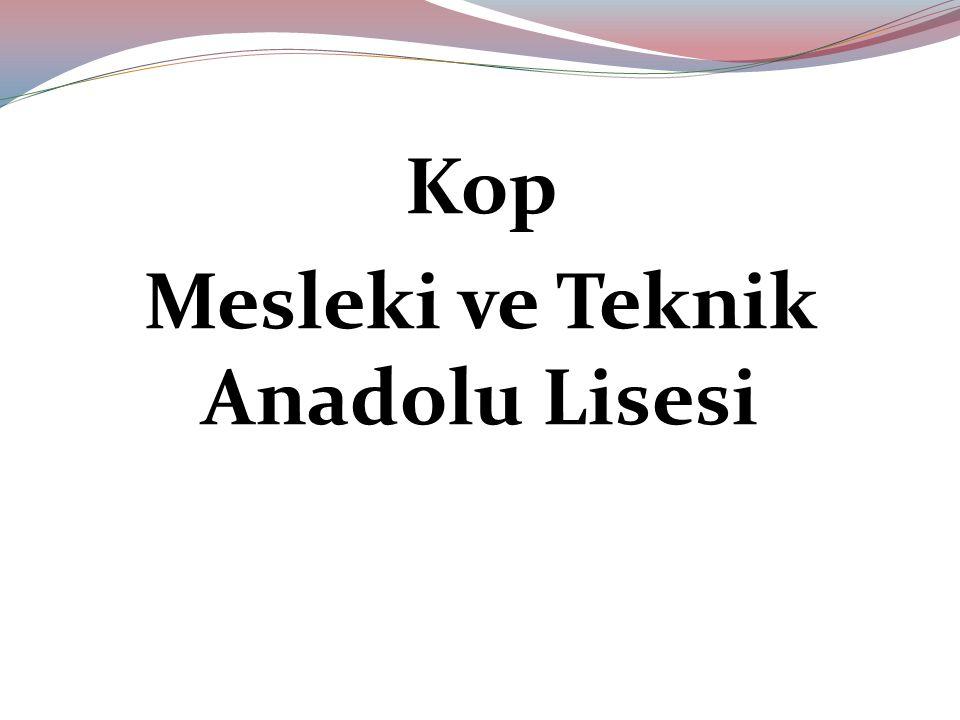 Kop Mesleki ve Teknik Anadolu Lisesi