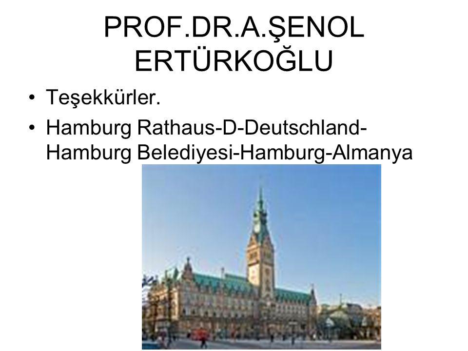 PROF.DR.A.ŞENOL ERTÜRKOĞLU Teşekkürler. Hamburg Rathaus-D-Deutschland- Hamburg Belediyesi-Hamburg-Almanya