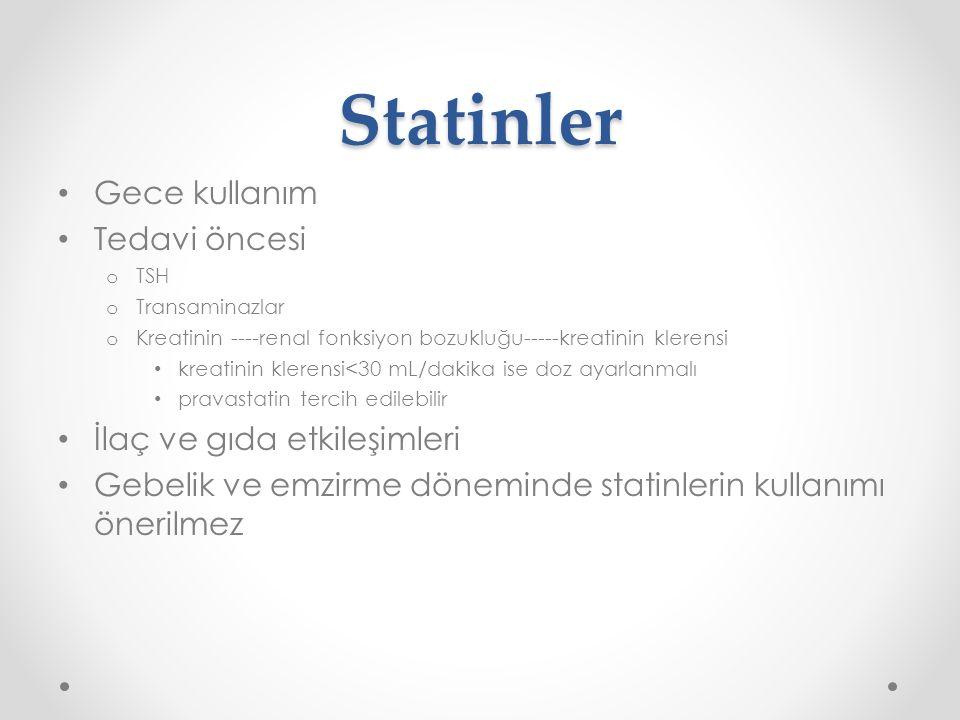 Statin toksisitesi açısından riskli durumlar