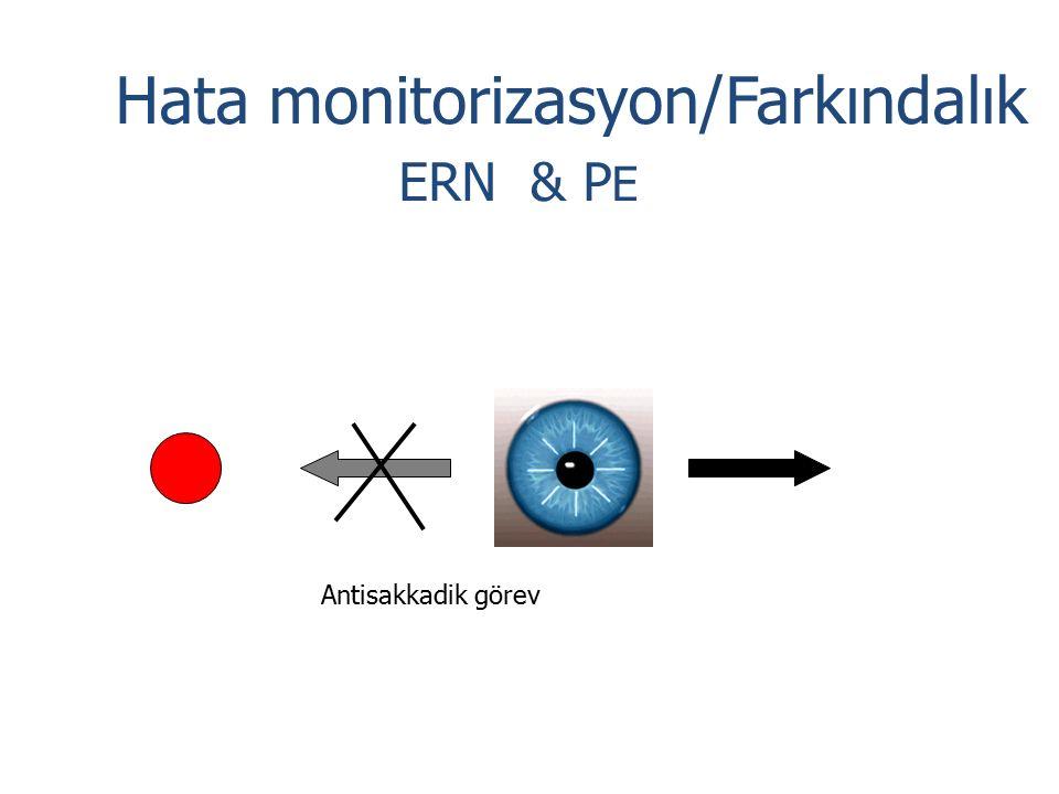 Hata monitorizasyon/Farkındalık ERN & P E Antisakkadik görev