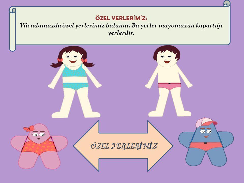 ÖZEL YERLER İ M İ Z: Vücudumuzda özel yerlerimiz bulunur.