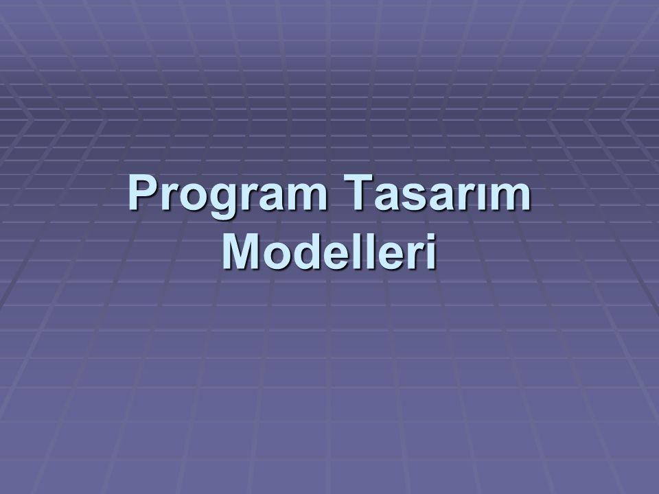 Program Tasarım Modelleri