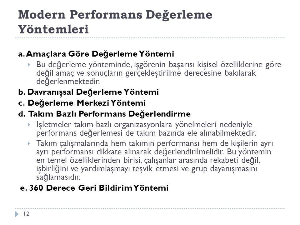 Modern Performans Değerleme Yöntemleri a.