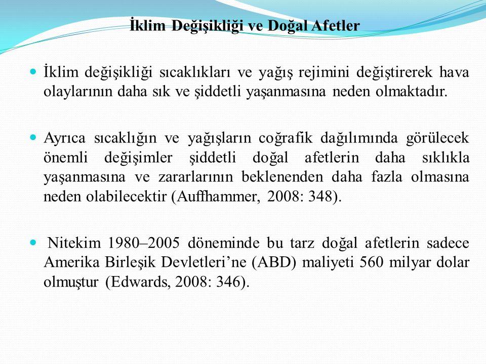 Türkiye Türkiye iklim değişikliğinin potansiyel etkileri açısından risk grubu ülkeler arasındadır.
