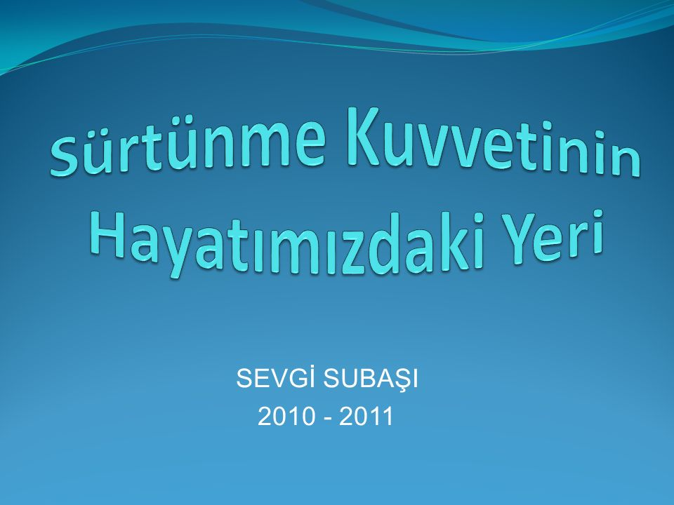 SEVGİ SUBAŞI 2010 - 2011