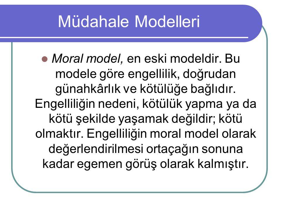 Müdahale Modelleri Moral model, en eski modeldir.