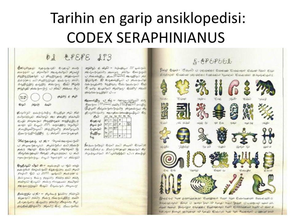 İlk baskısı 1981 yılında yayınlanan Codex Seraphinianus, İtalyan sanatçı, mimar ve endüstriyel tasarımcı Luigi Serafini tarafından 1976-1978 yılları arasında 30 aylık bir sürede hazırlanan ve hayali bir dünyayı betimleyen resimli bir ansiklopedi.