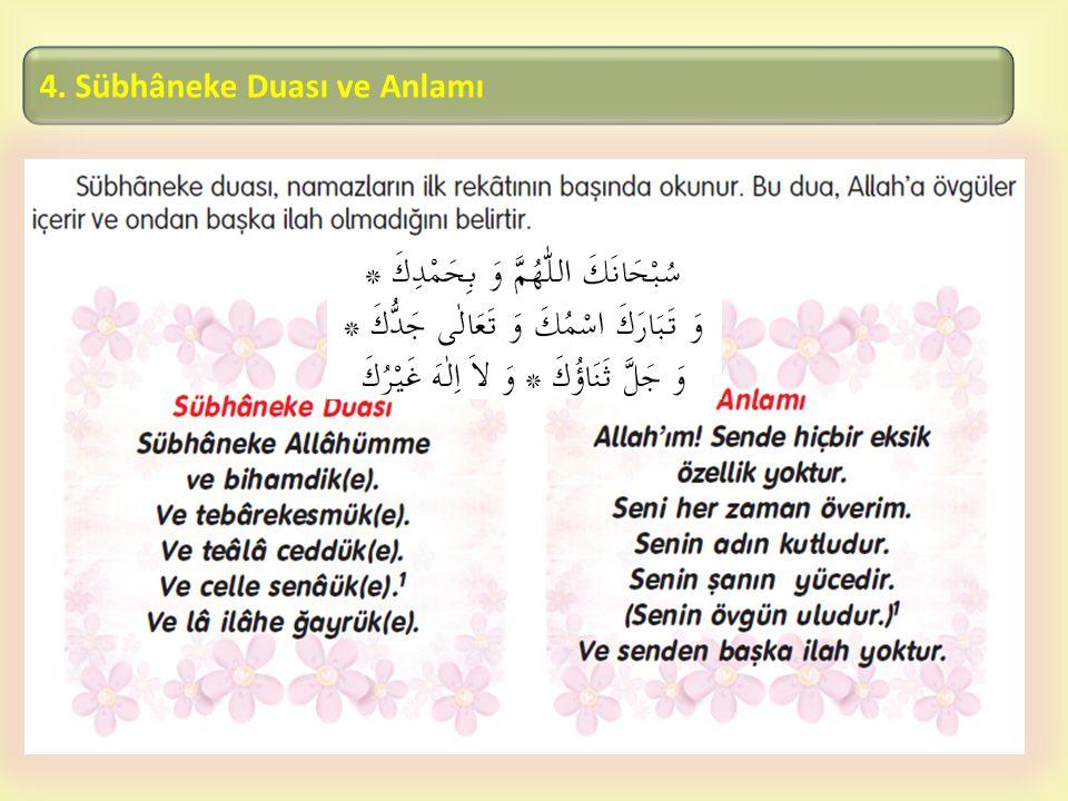  4. Sübhâneke Duası ve Anlamı