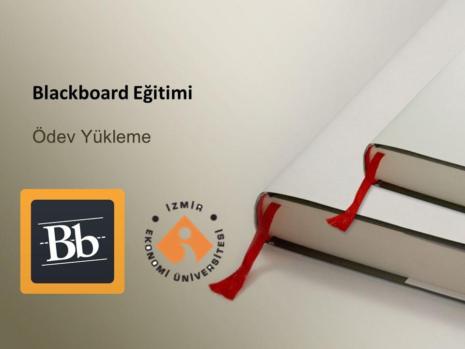 Ödev Yükleme Blackboard Eğitimi