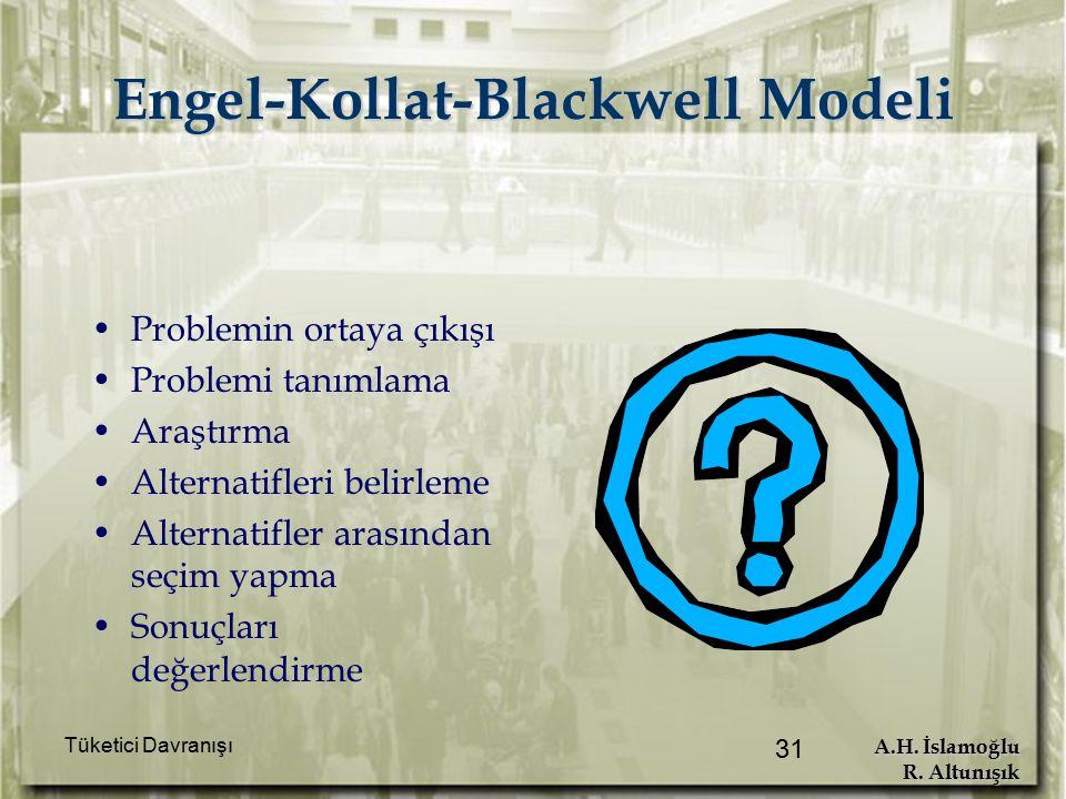 A.H. İslamoğlu R. Altunışık Tüketici Davranışı 31 Engel-Kollat-Blackwell Modeli Problemin ortaya çıkışı Problemi tanımlama Araştırma Alternatifleri be