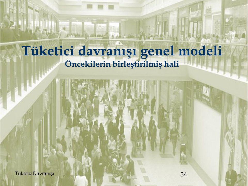 Tüketici davranışı genel modeli Öncekilerin birleştirilmiş hali Tüketici Davranışı 34