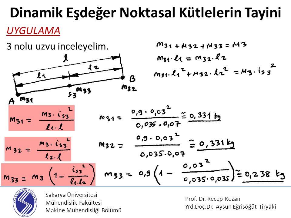 Sakarya Üniversitesi Mühendislik Fakültesi Makine Mühendisliği Bölümü Prof. Dr. Recep Kozan Yrd.Doç.Dr. Aysun Eğrisöğüt Tiryaki UYGULAMA 3 nolu uzvu i