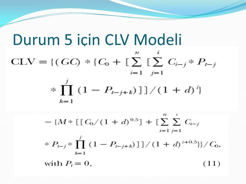 Durum 5 için CLV Modeli