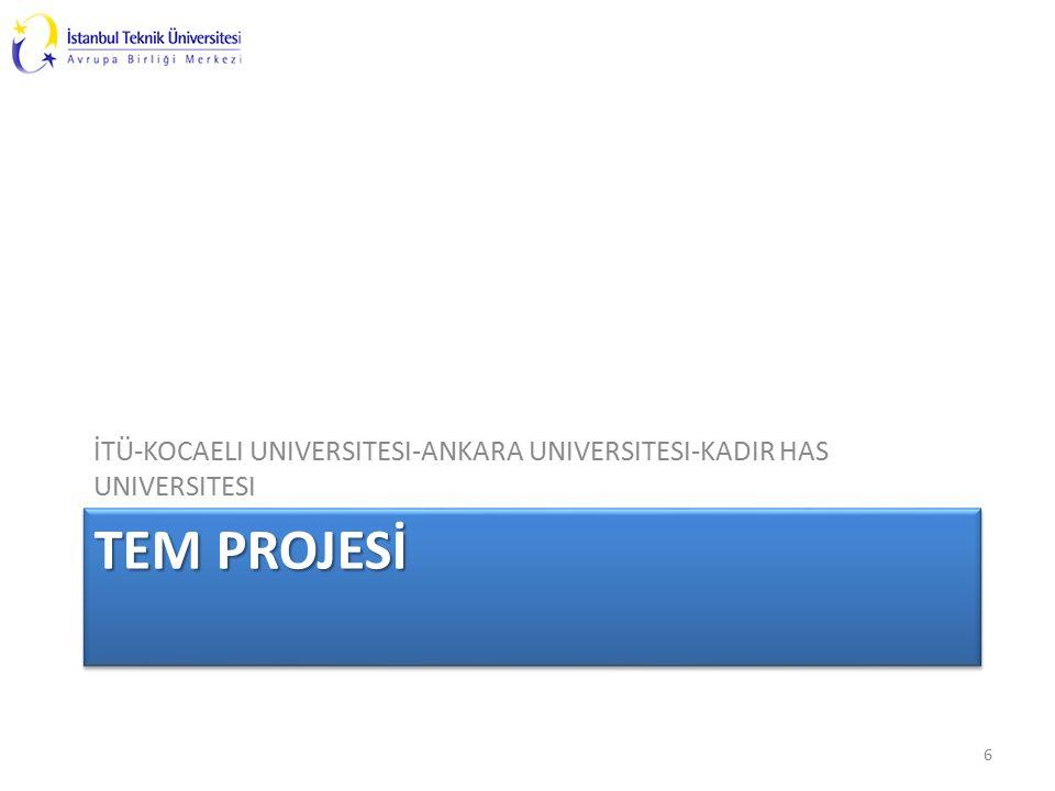 TEM PROJESİ İTÜ-KOCAELI UNIVERSITESI-ANKARA UNIVERSITESI-KADIR HAS UNIVERSITESI 6