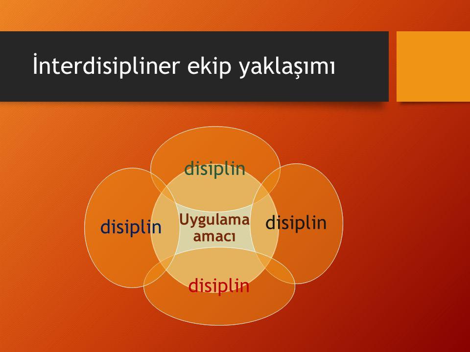 İnterdisipliner ekip yaklaşımı Uygulama amacı disiplin