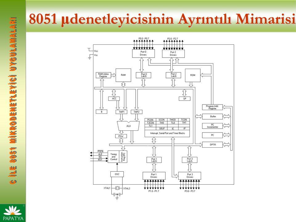 8051 μ denetleyicisinin Ayrıntılı Mimarisi