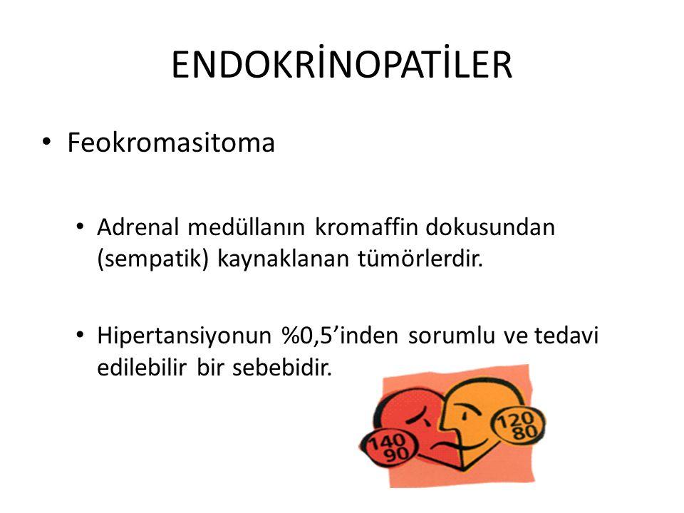 Feokromasitoma Adrenal medüllanın kromaffin dokusundan (sempatik) kaynaklanan tümörlerdir. Hipertansiyonun %0,5'inden sorumlu ve tedavi edilebilir bir