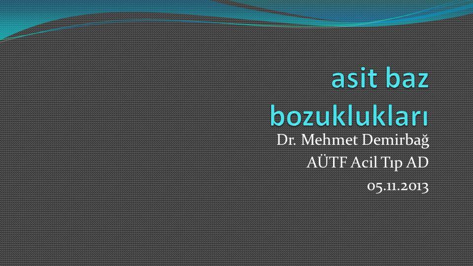 Dr. Mehmet Demirbağ AÜTF Acil Tıp AD 05.11.2013