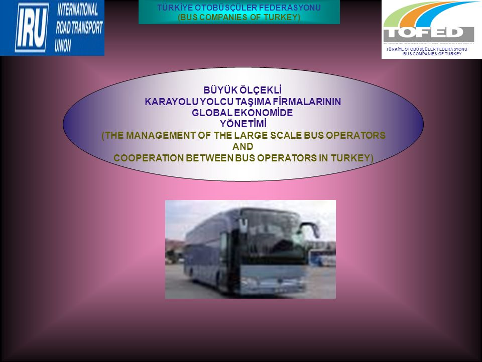 BÜYÜK ÖLÇEKLİ KARAYOLU YOLCU TAŞIMA FİRMALARININ GLOBAL EKONOMİDE YÖNETİMİ (THE MANAGEMENT OF THE LARGE SCALE BUS OPERATORS AND COOPERATION BETWEEN BU