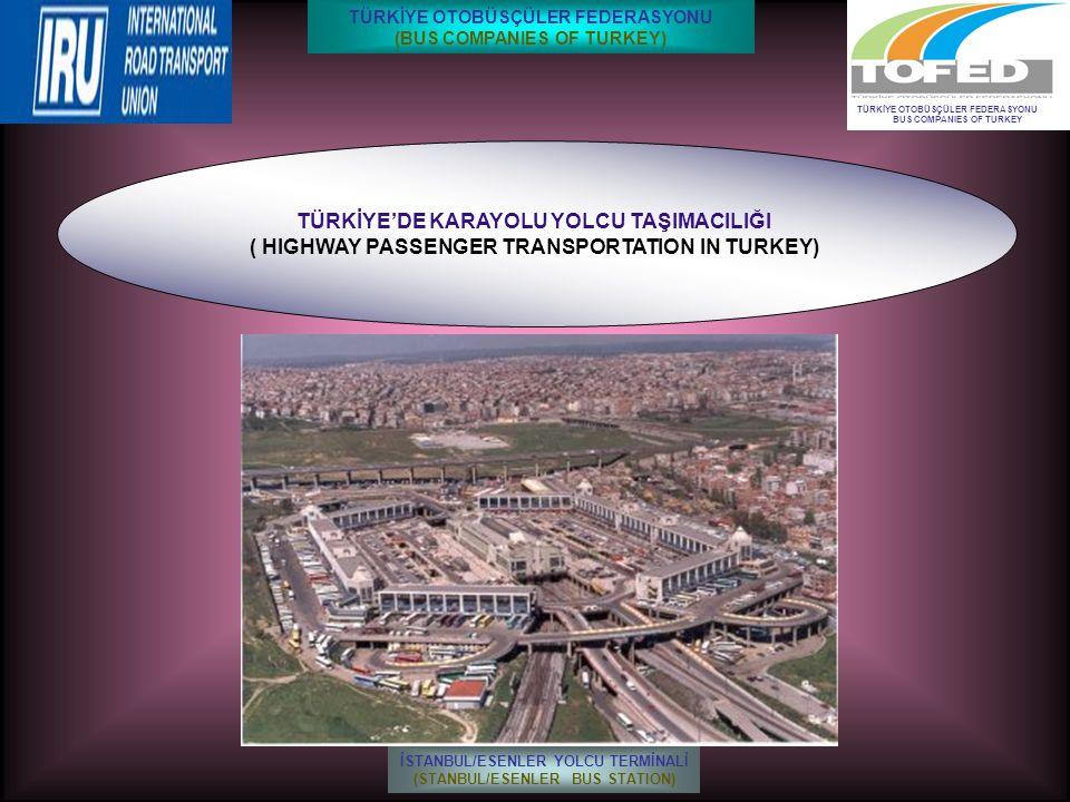 TÜRKİYE'DE KARAYOLU YOLCU TAŞIMACILIĞI ( HIGHWAY PASSENGER TRANSPORTATION IN TURKEY) TÜRKİYE OTOBÜSÇÜLER FEDERASYONU BUS COMPANIES OF TURKEY İSTANBUL/ESENLER YOLCU TERMİNALİ (STANBUL/ESENLER BUS STATION) TÜRKİYE OTOBÜSÇÜLER FEDERASYONU (BUS COMPANIES OF TURKEY)