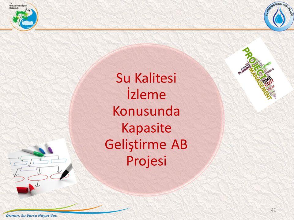 Su Kalitesi İzleme Konusunda Kapasite Geliştirme AB Projesi 40