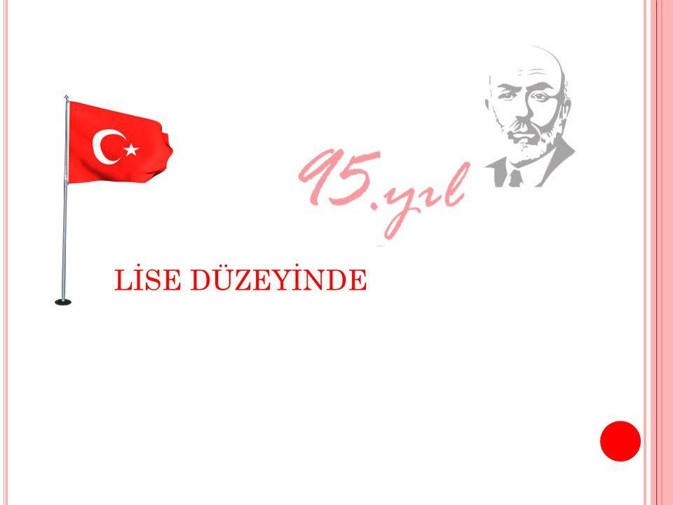 İLÇE 1.Sİ MMUHAMMED MUSTAFA ERTÜRK Beşiktaş Anadolu Lisesi