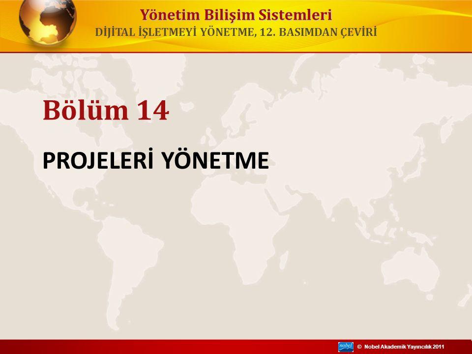 © Nobel Akademik Yayıncılık 2011 DİJİTAL İŞLETMEYİ YÖNETME, 12. BASIMDAN ÇEVİRİ Yönetim Bilişim Sistemleri PROJELERİ YÖNETME Bölüm 14