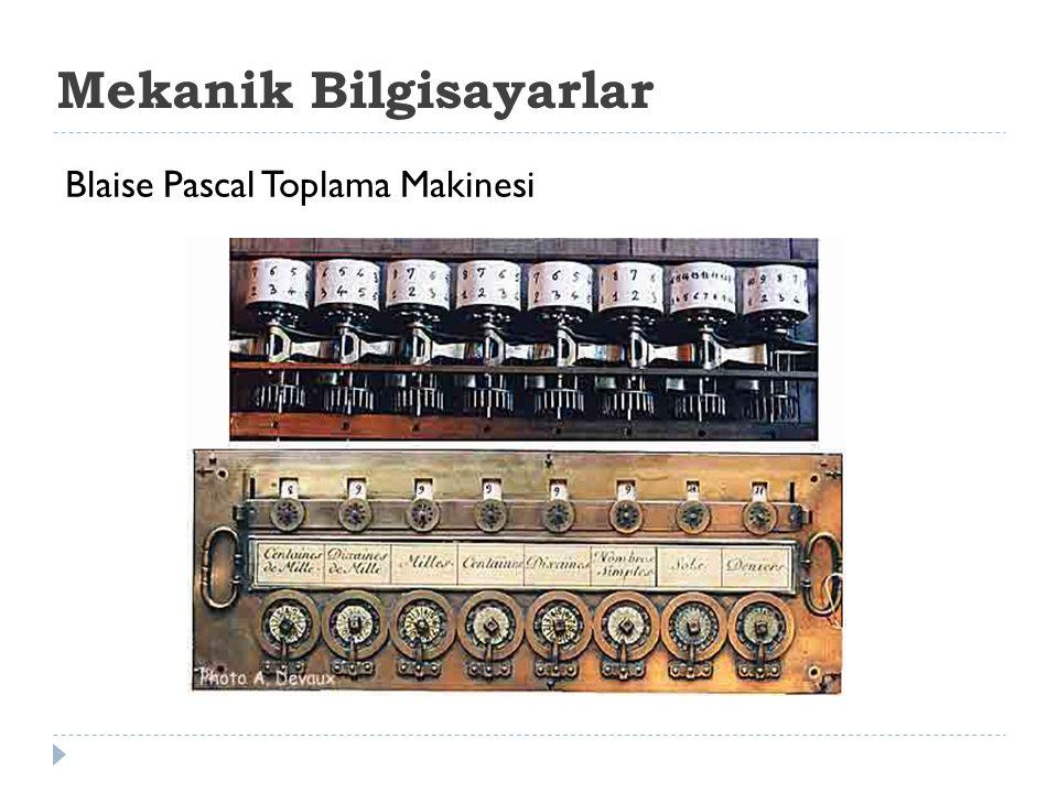 Mekanik Bilgisayarlar Blaise Pascal Toplama Makinesi