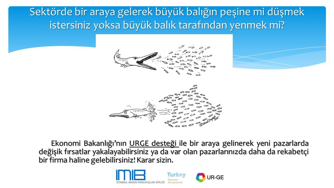 Sektörde bir araya gelerek büyük balığın peşine mi düşmek istersiniz yoksa büyük balık tarafından yenmek mi? Ekonomi Bakanlığı'nın URGE desteği ile bi