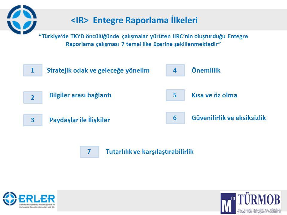 """13 Entegre Raporlama İlkeleri """"Türkiye'de TKYD öncülüğünde çalışmalar yürüten IIRC'nin oluşturduğu Entegre Raporlama çalışması 7 temel ilke üzerine şe"""
