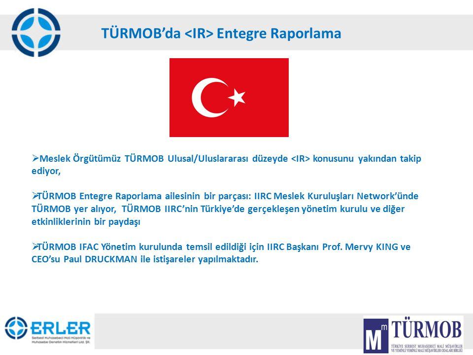 19 TÜRMOB'da Entegre Raporlama  Meslek Örgütümüz TÜRMOB Ulusal/Uluslararası düzeyde konusunu yakından takip ediyor,  TÜRMOB Entegre Raporlama ailesi