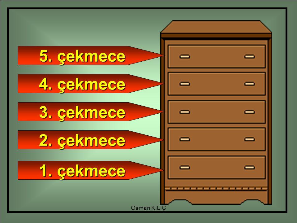 1. çekmece 2. çekmece 3. çekmece 4. çekmece 5. çekmece Osman KILIÇ