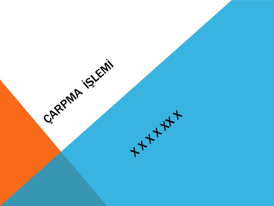 ÇARPMA İŞLEMİ X X X X XX X