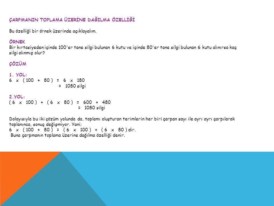 Çarpma, temel aritmetik işlemlerden biridir.