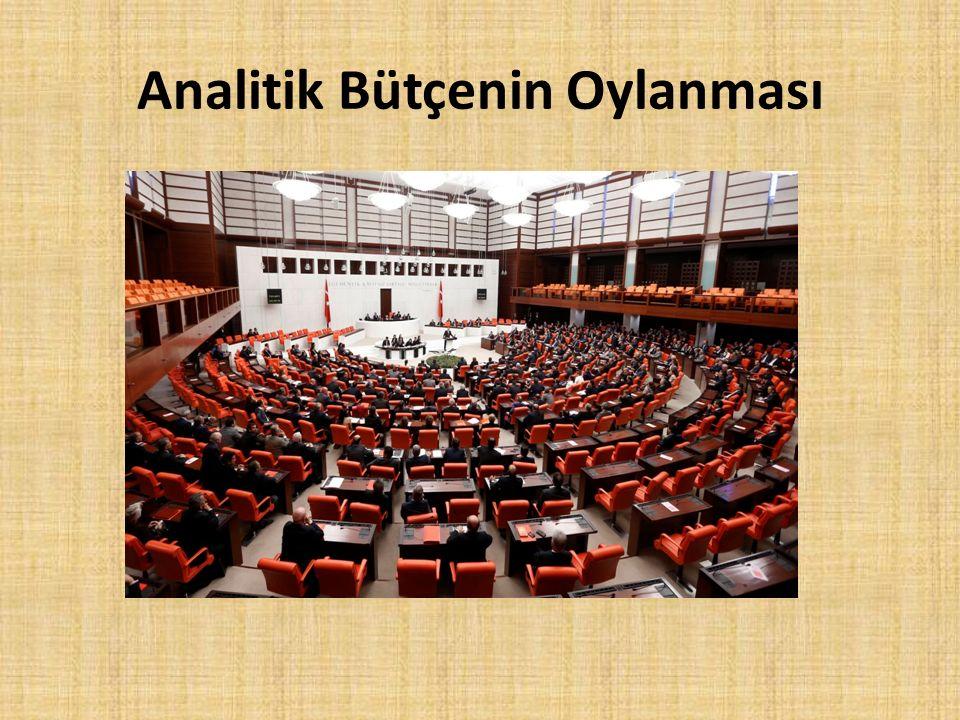 Analitik Bütçenin Oylanması