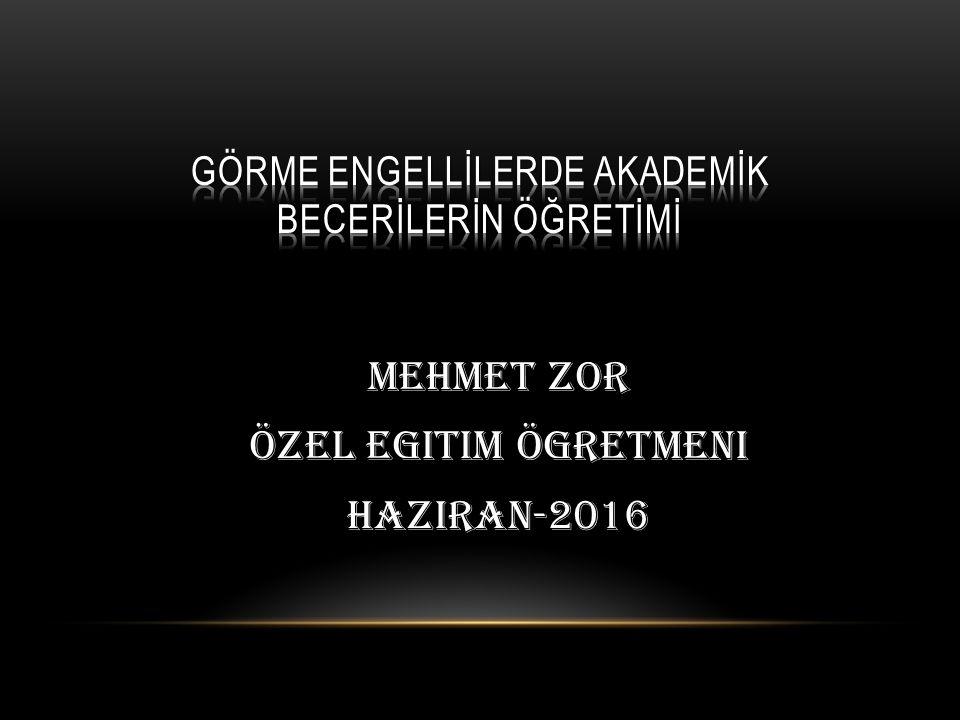 Mehmet ZOR Özel egitim ögretmeni Haziran-2016