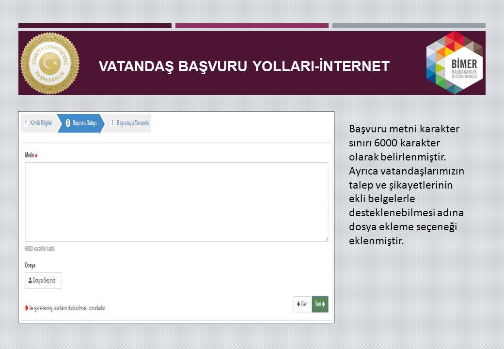 BİMER KULLANICI EKRANI-YENİ BAŞVURU BÖLÜMÜ Giriş ekranında Kullanıcıların işlemleri belirli başlıklar altında toplanmıştır.