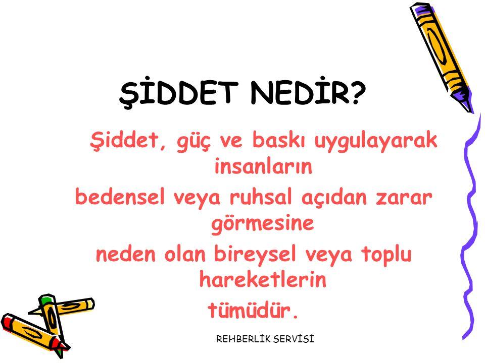 REHBERLİK SERVİSİ ANNE BABALARIN BİLMESİ GEREKENLER...