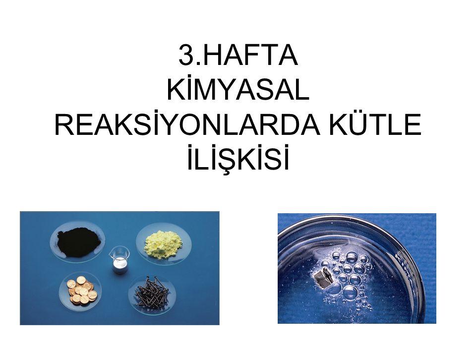 12 x 6,022 x 10 23 atom K 1 mol K = ÖRNEK: 0,551 g potasyumda (K) kaç atom vardır .