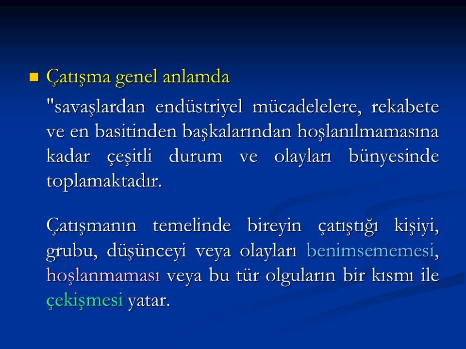 i) Güç ve Otorite Kullanma Çatışmaların, yöneticinin gücünü, yetkisini ve otoritesini kullanarak çözmesi demektir.