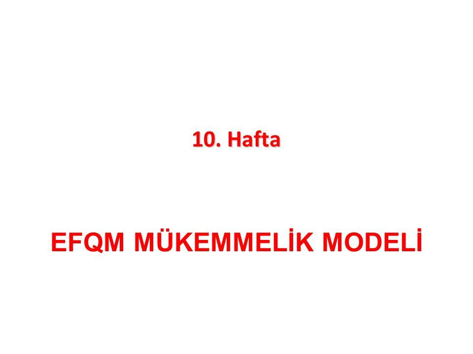 EFQM MÜKEMMELİK MODELİ 10. Hafta