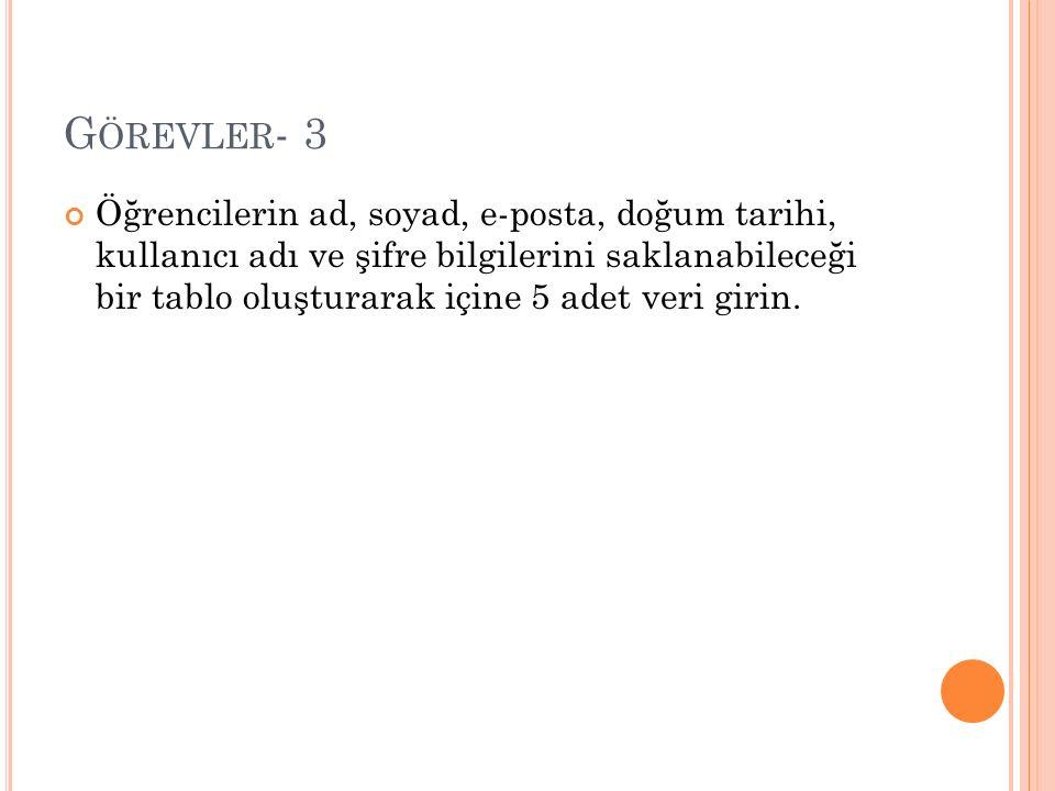 G ÖREVLER - 9 X