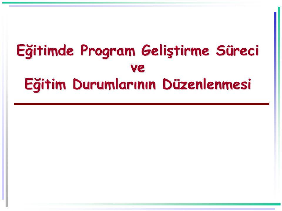 -11- Eğitim Programı (2)  Bir eğitim programı:  Niçin eğitim.