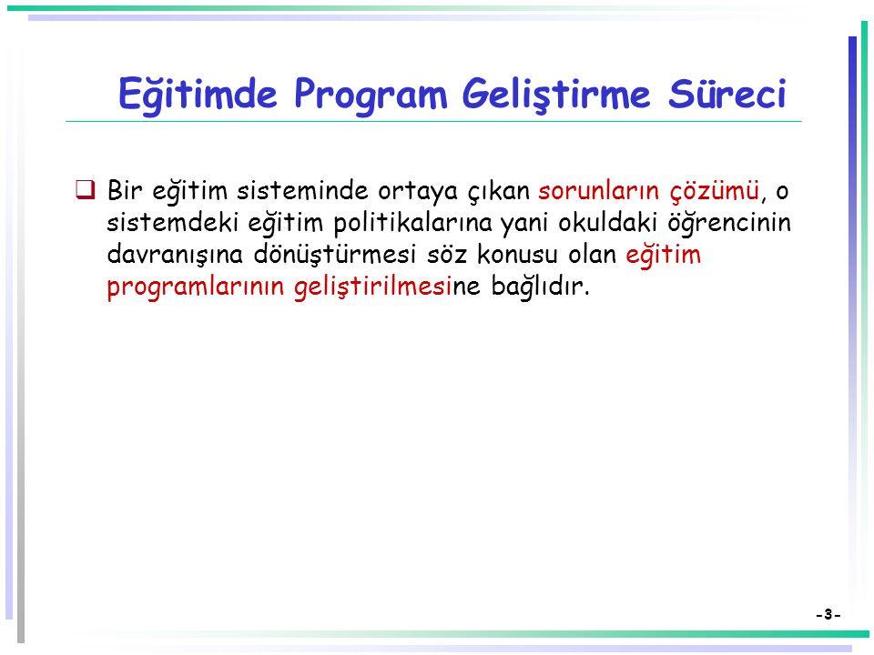 -23- Bir Eğitim Programının Ögeleri: Değerlendirme Değerlendirme (Ne kadar.