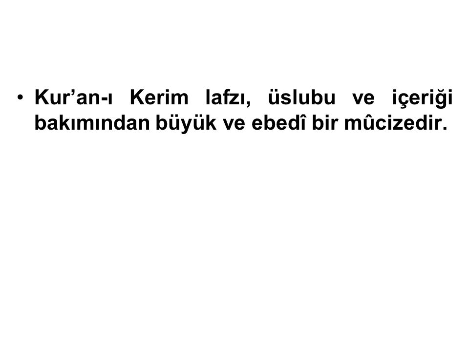 Kur'an-ı Kerim Hz.