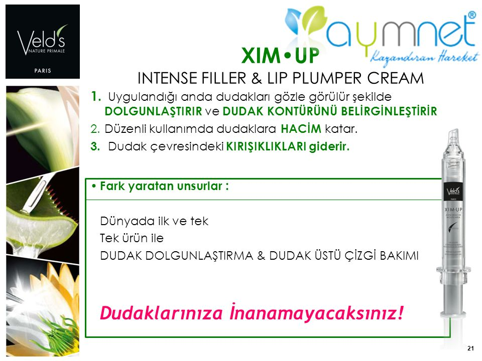 21 XIMUP INTENSE FILLER & LIP PLUMPER CREAM 1.