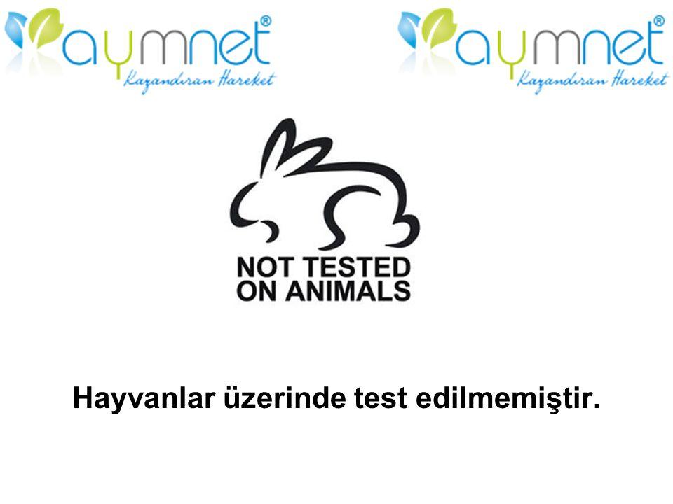 Hayvanlar üzerinde test edilmemiştir.