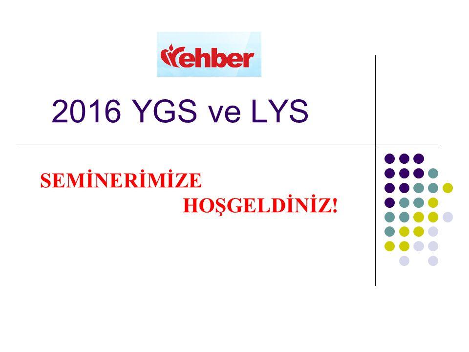 2016 YGS ve LYS SEMİNERİMİZE HOŞGELDİNİZ!