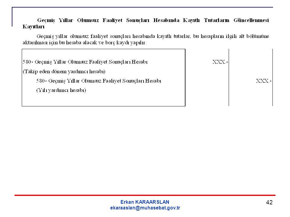 Erkan KARAARSLAN ekaraaslan@muhasebat.gov.tr 42